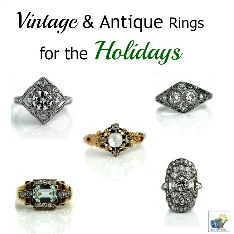 Vintage and antique diamond rings that would be perfect for a holiday engagement!