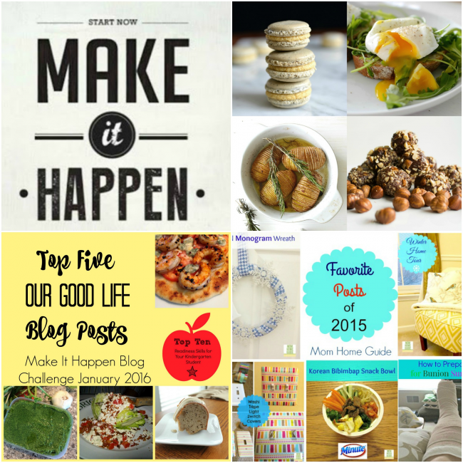 Make It Happen Blog Hop: Best Posts of 2015