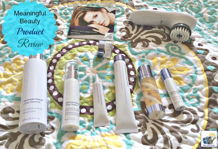 Meaningful Beauty product review. Cindy Crawford's beauty regimen firms, softens and protects skin, and is even good for those with sensitive skin.