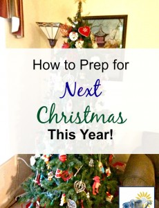 How to prepare for next Christmas this year to make your next Christmas season easy!