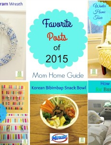 My favorite posts from Mom Home Guide for 2015!