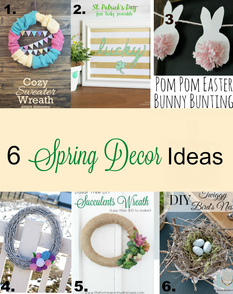6 great spring decor craft ideas
