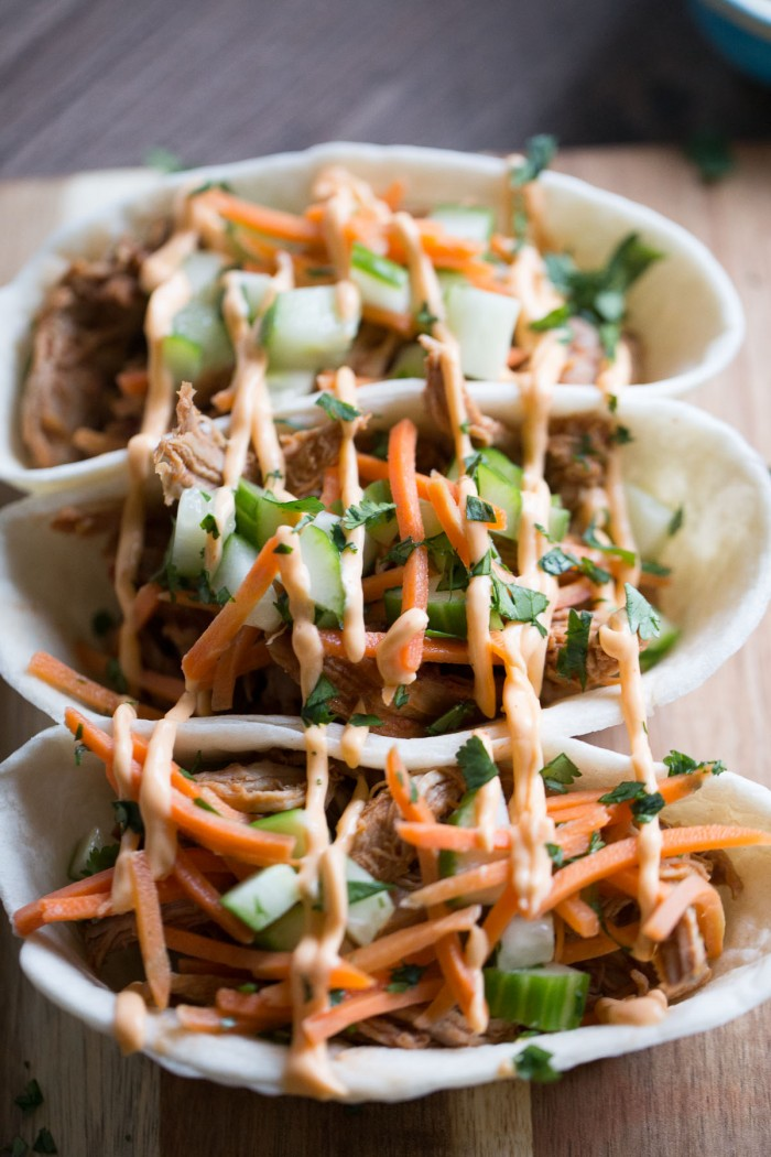 This Asian barbecue pork taco boat recipe is great for game day or for a Super Bowl party!