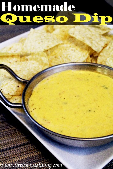 This homemade queso dip would be great for a game day party of super bowl party!