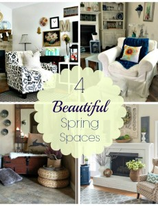 four beautifully decorated spring spaces