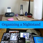 Organizing a Nightstand & Drawer #SpringClean16