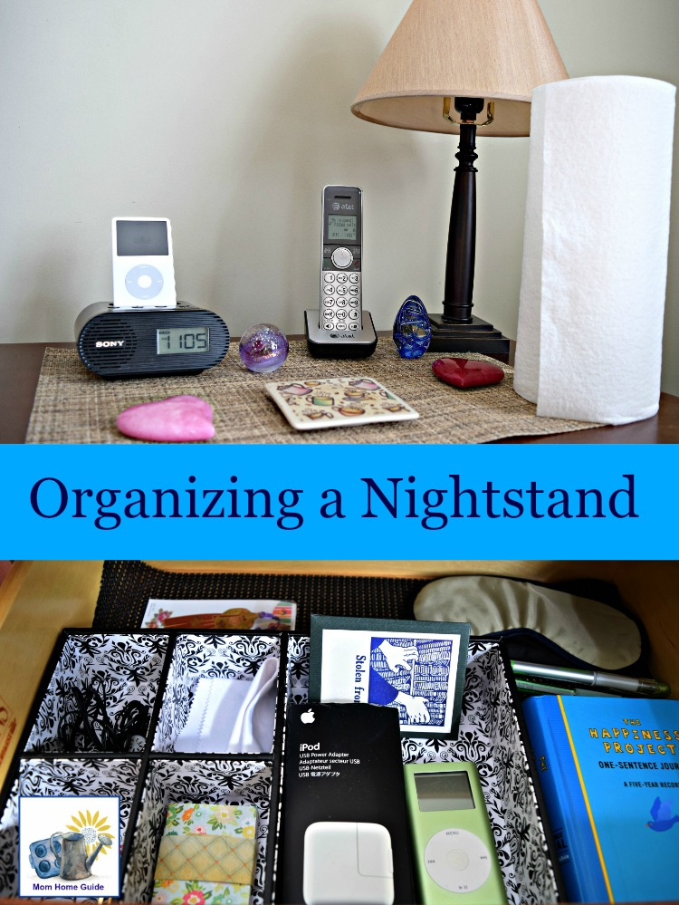organizing a nightstand