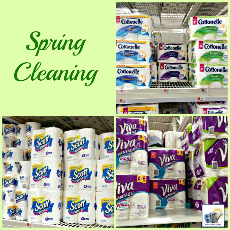 spring cleaning with Scott, Cottonelle and Viva at Walmart