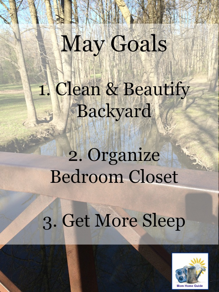 May Goals -- I like to set smaller monthly goals that are easier to accomplish in a month.