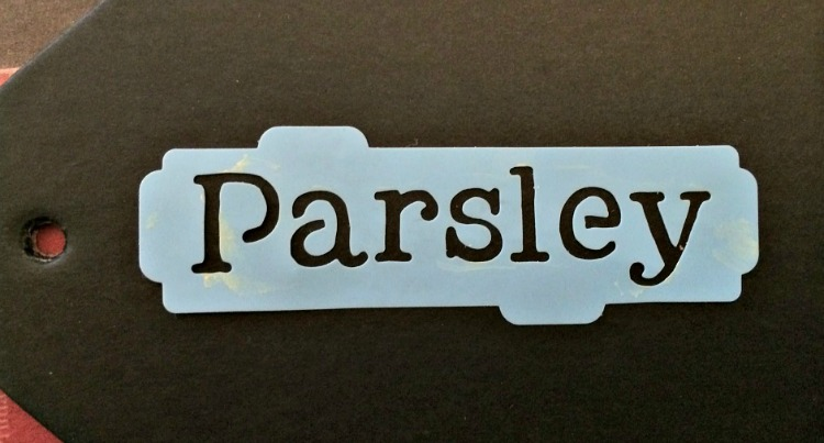 I love this parsley herb stencil -- it's great for making DIY herb garden markers!