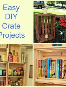 Easy DIY projects with wood crates -- wood crates are inexpensive and very versatile in the home