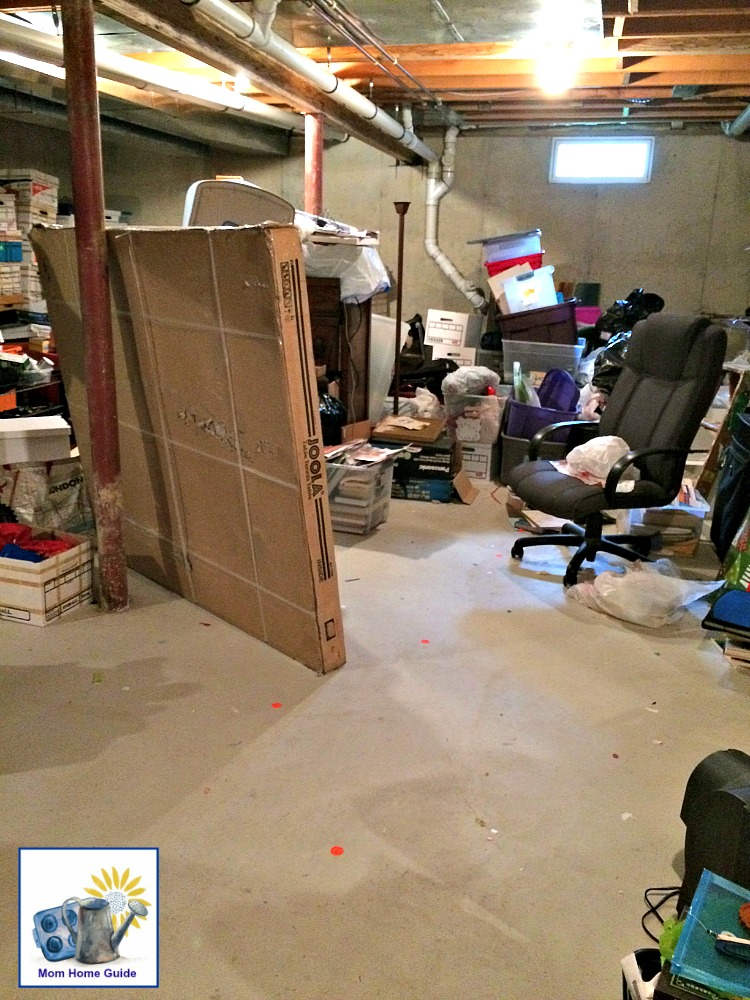 Clearing out space for a ping pong table in the basement