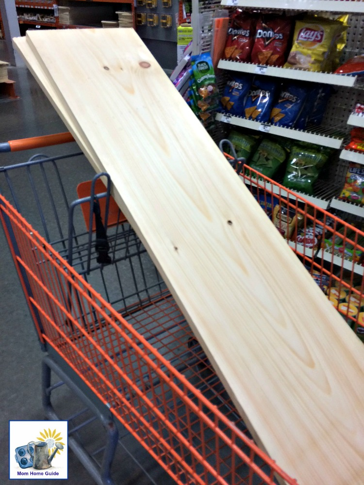 Buying wood for wood and cinder block bench
