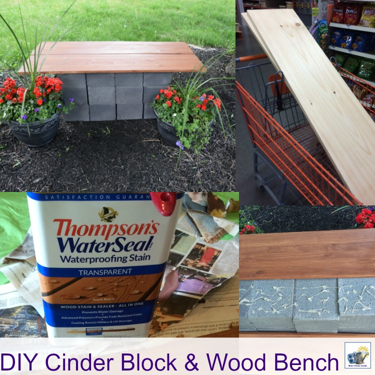 how to make a DIY cinder block and wood bench. This is a simple and inexpensive project, with great results!