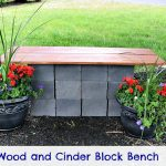 DIY Wood and Cinder Block Bench {Curb Appeal Blog Hop}