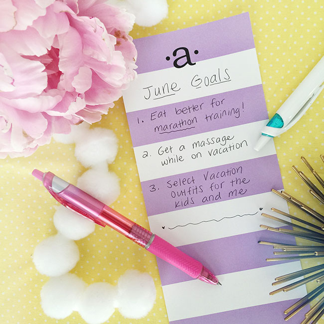 June goals from Curly Crafty Mom