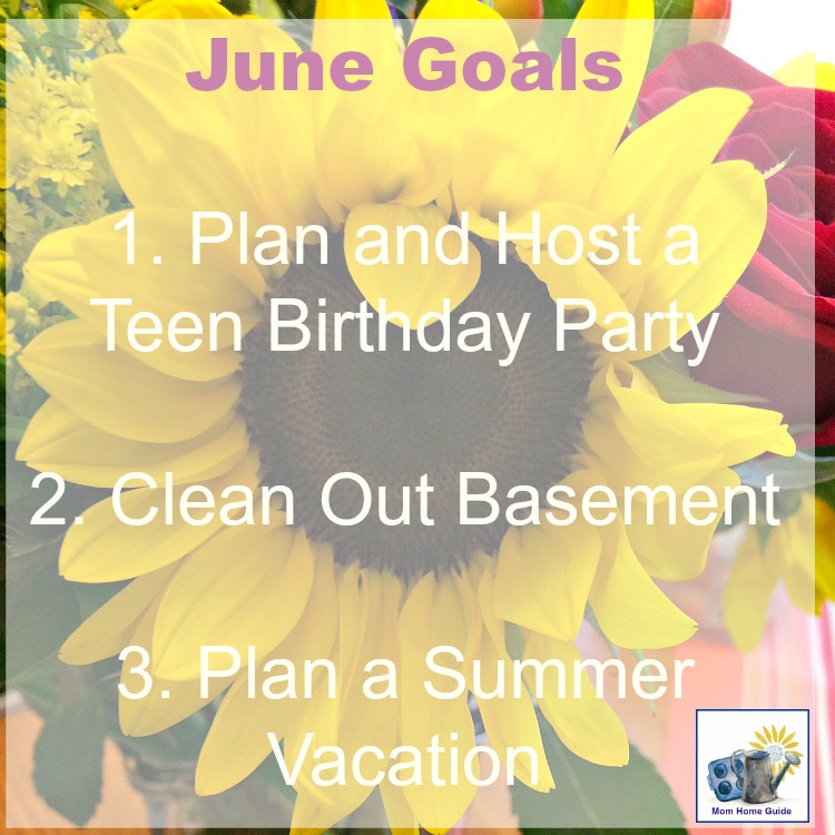 To help get things done this month, I've come up with a list of goals for June