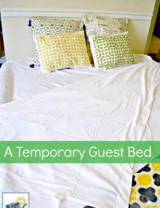 We have a great air bed that is comfortable and serves as a wonderful guest bed