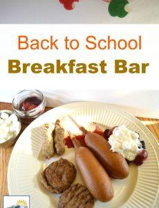 Fun back to school breakfast bar