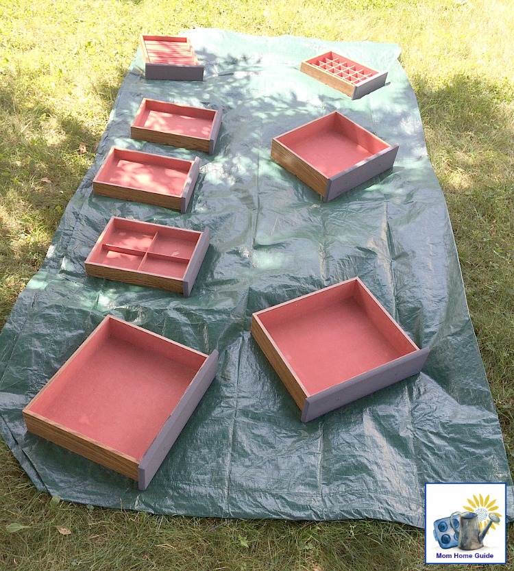 chalk painting a jewelry chest or armoire