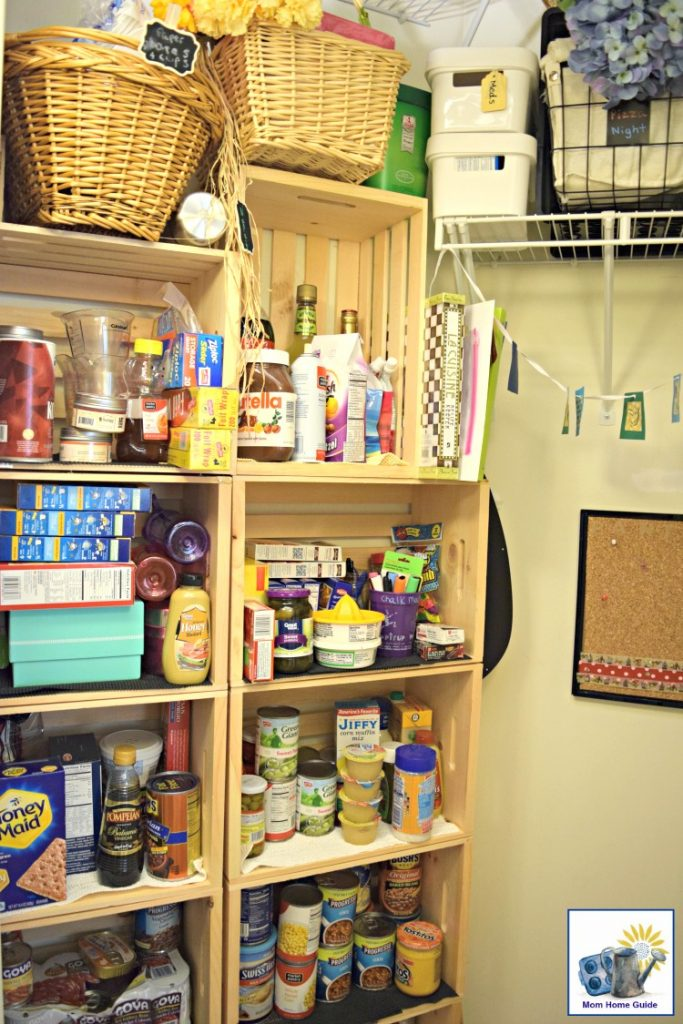 Coat closet converted into a pantry