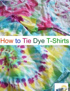 how to tie dye t shirts