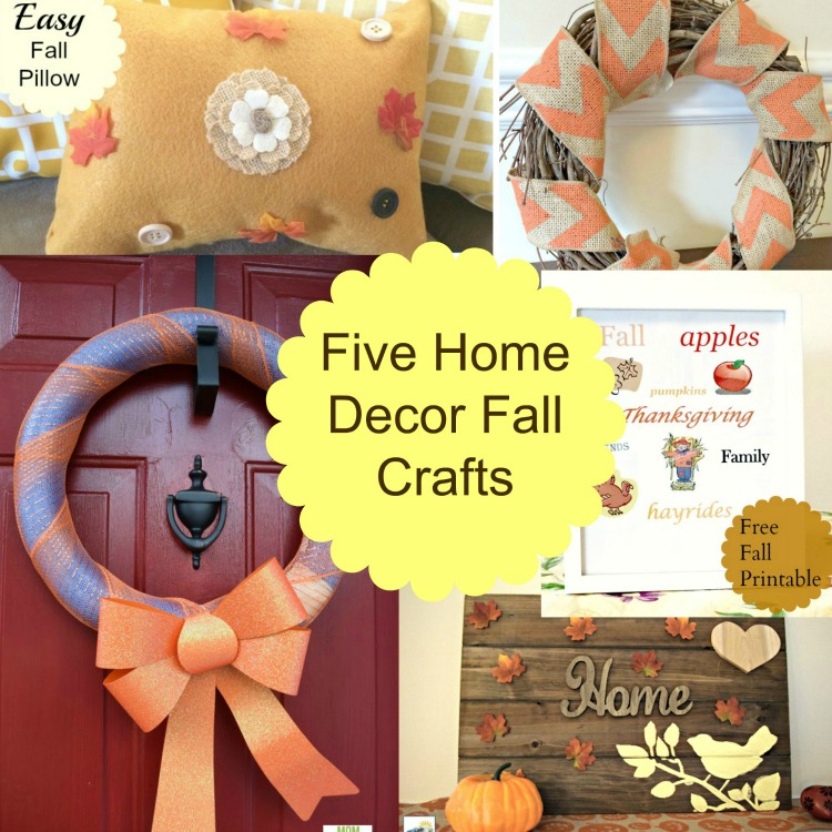Five home decor fall crafts