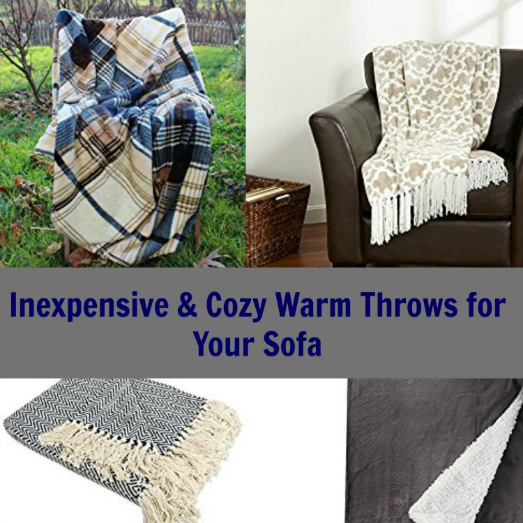 Cozy and inexpensive warm throws that will look great on your sofa this fall