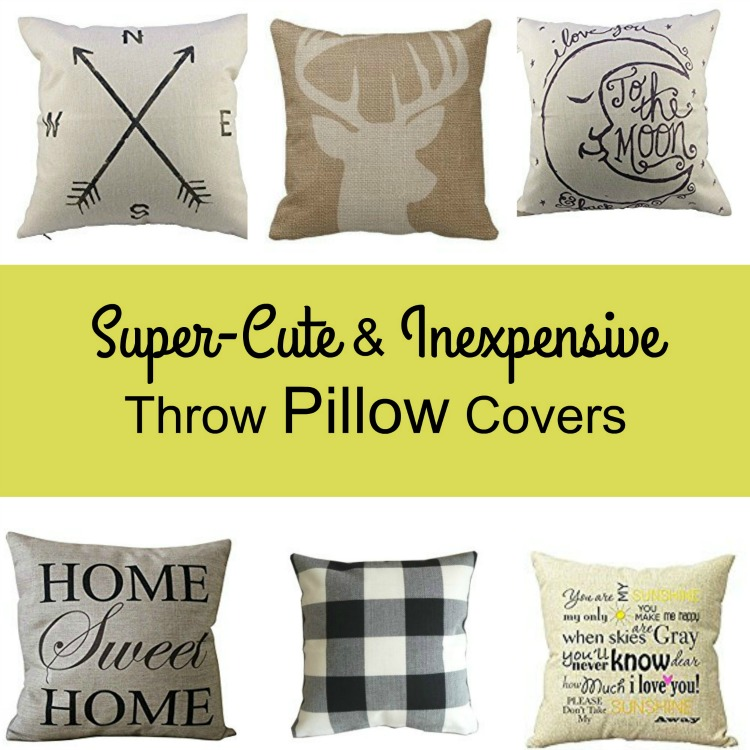 Super cute and inexpensive throw pillow covers from Amazon