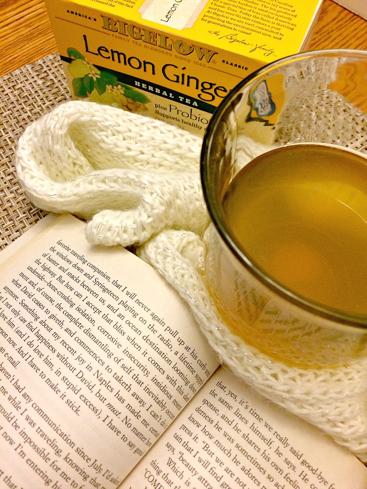 A book and a soothing cup of tea