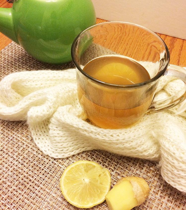 A brewed pot of Bigelow tea