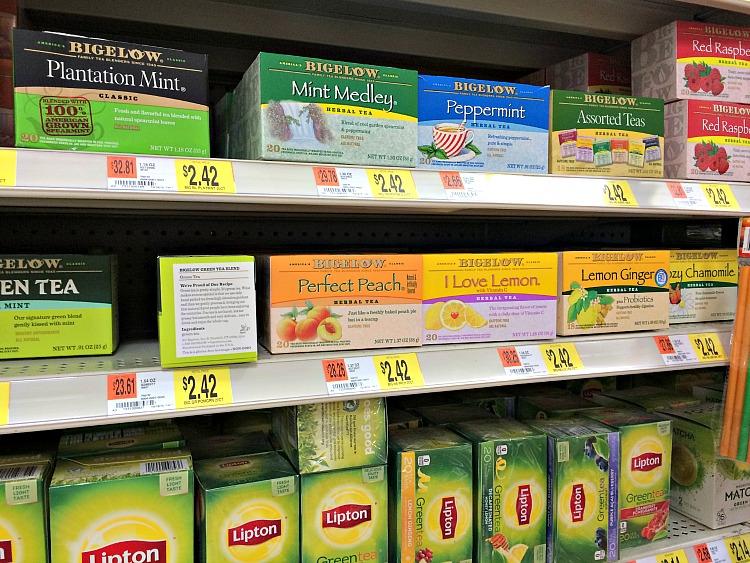 Bigelow tea at Walmart