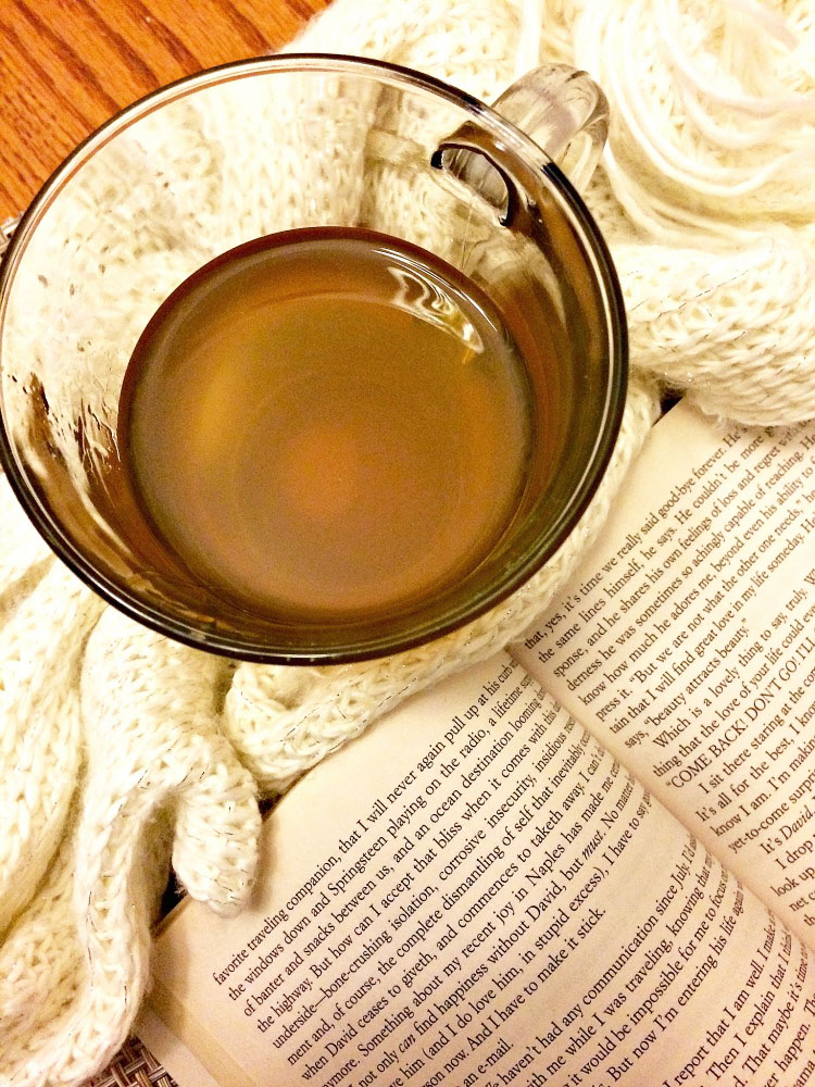A good recipe for when you're feeling under the weather -- a good book and a hot cup of tea