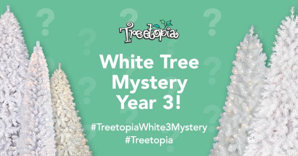 Treetopia.com's white tree mystery campaign and giveaway