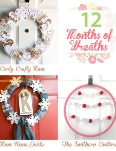 12 months of wreaths -- January