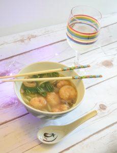 Recipe for shrimp udon soup