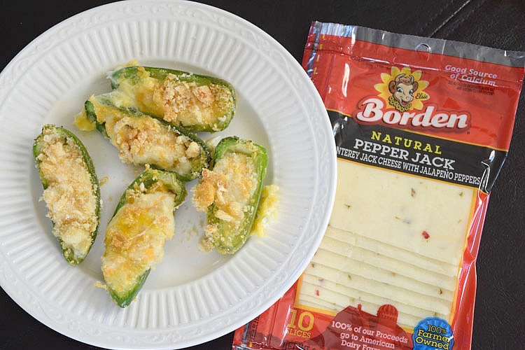 cheesy jalapeno peppers recipe with pepper jack slices
