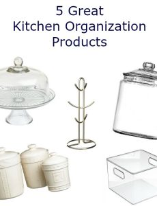 5 great products for organizing a kitchen