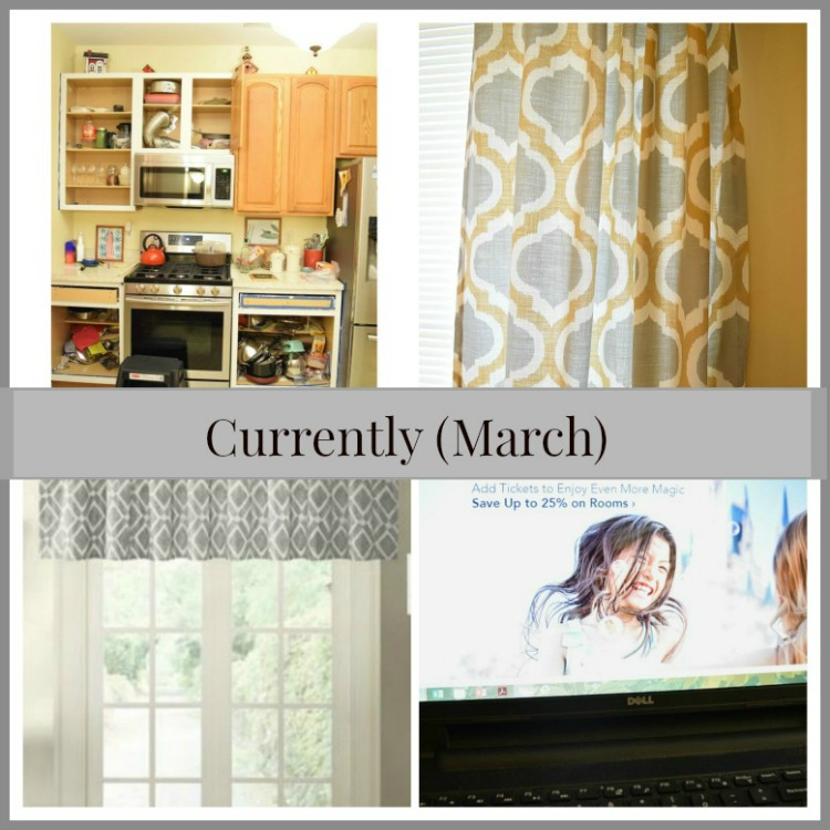 What I have currently been up to -- painting the kitchen, planning a Disney trip and new curtains!