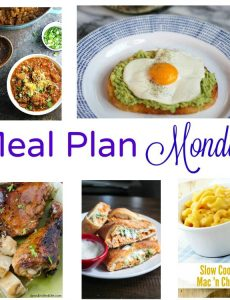 Meal Plan Monday -- a collection of five great weeknight meals