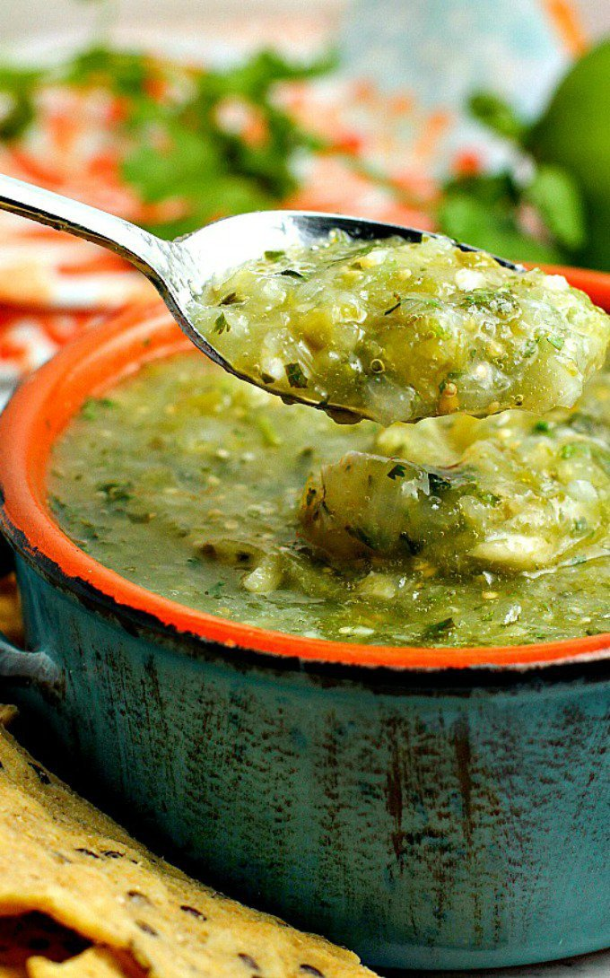 Fresh Salsa Verde recipe by A Dish of Daily Life