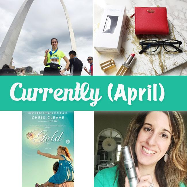 April Currently post for Curly Crafty Mom