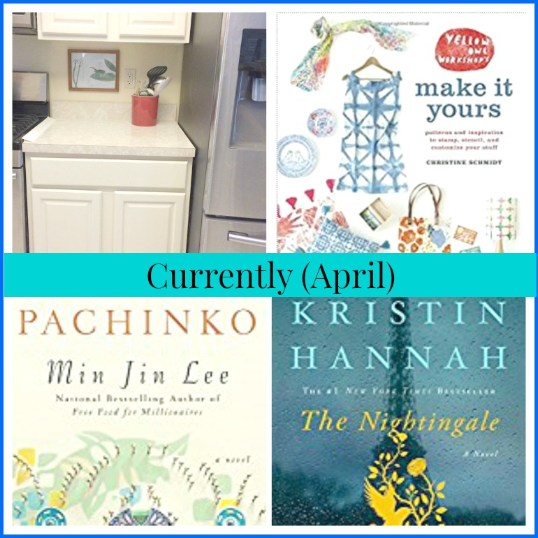 This month I've been working on my kitchen and catching up on books and magazines