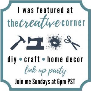 Creative Corner I'm Featured Button