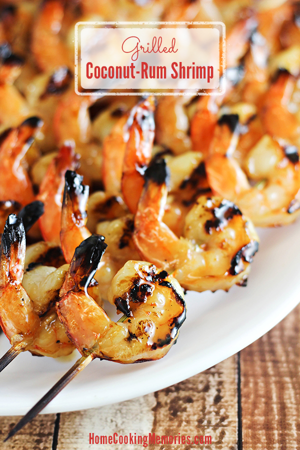 grilled coconut rum shrimp