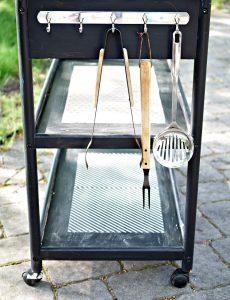 Cave Tools Stainless Steel 5 Hook Rack