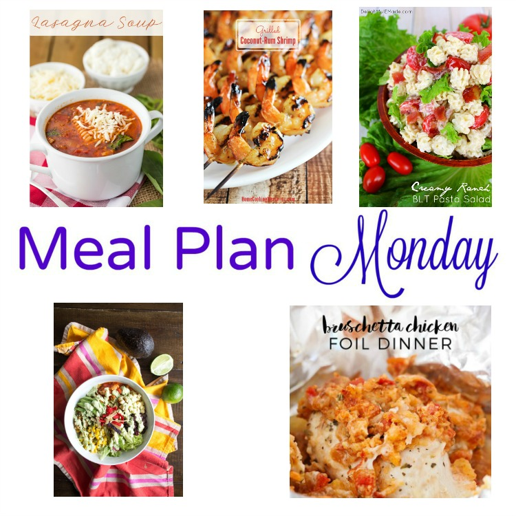 meal plan monday -- five quick recipes for weeknight meals