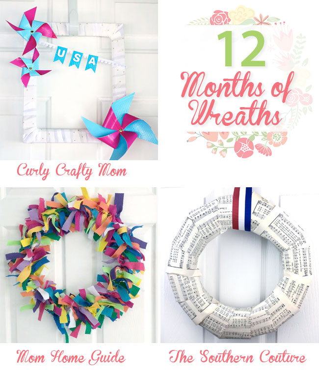three easy and beautiful wreath tutorials for June