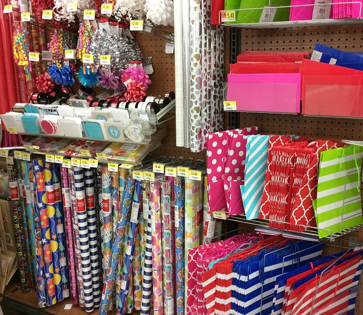 American Greetings gift wrap, bows and gift bags at Walmart