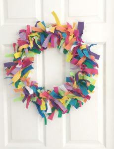 DIY colorful felt wreath